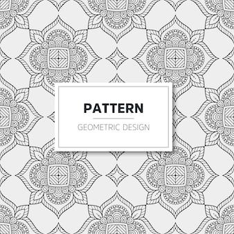 럭셔리 만다라 패턴. 기하학적 디자인
