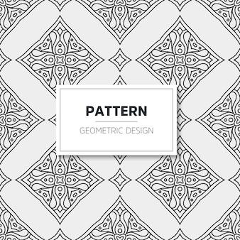 豪華なマンダラパターン。幾何学的デザイン