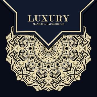 Luxury mandala round ornament pattern background