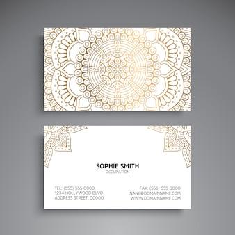 Luxury mandala style business card