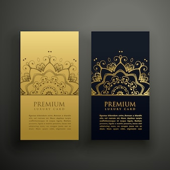 Luxury mandala style card design