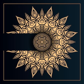 Luxury mandala vector design with golden arabesque style