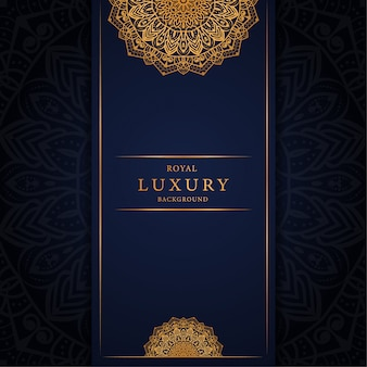 Luxury mandala with arabesque golden ornamental decoration