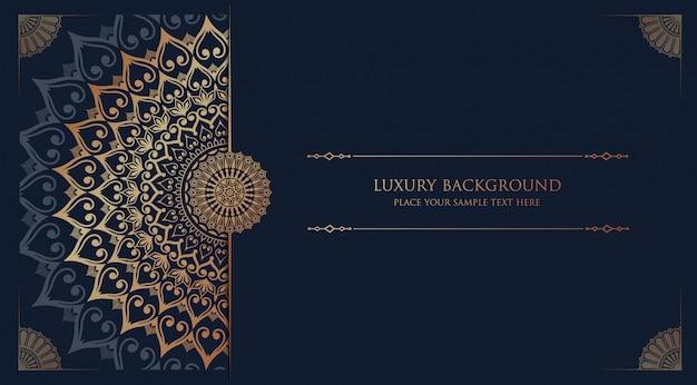 Luxury mandala  with golden arabesque  arabic islamic east style