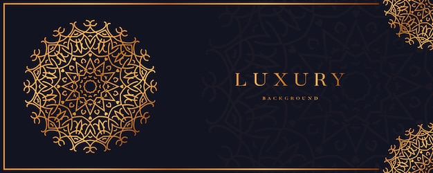 Luxury mandala with golden arabesque design arabic islamic style