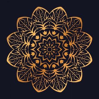 Luxury mandala with golden arabesque design arabic islamic style