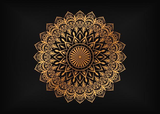 Luxury mandala with golden arabesque ornaments