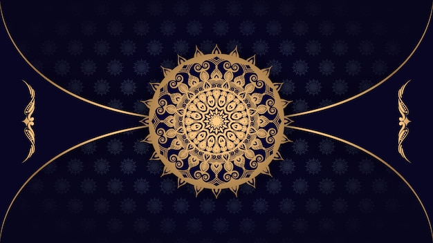 Luxury mandala  with golden arabesque pattern arabic islamic east style