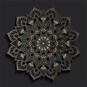 Luxury mandala with golden effect