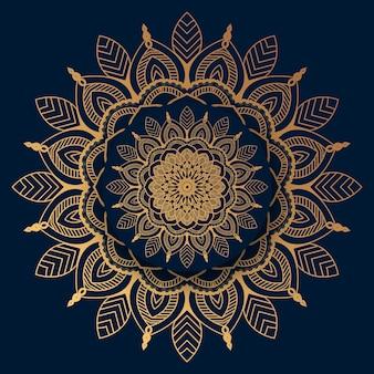 Luxury mandala  with golden islamic pattern