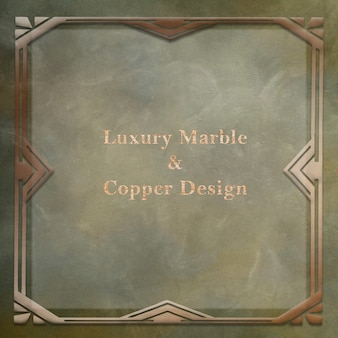 Luxury marble and copper background