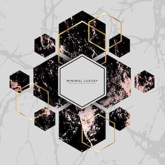 Luxury Marble Geometric Hexagon Background