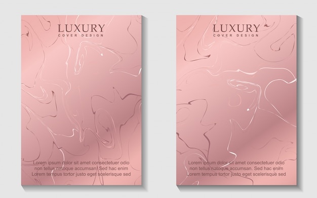 Luxury marble rose gold cover design