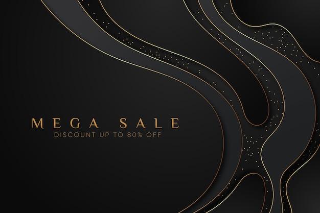 Luxury mega sale background