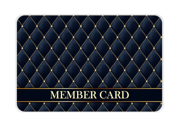 Luxury member card isolated