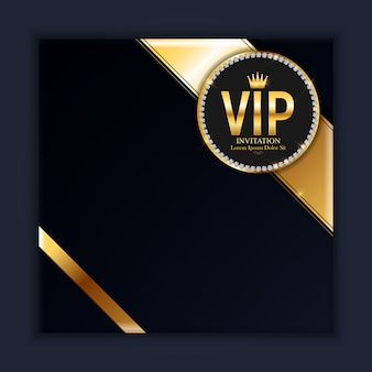 Luxury members, gift card background