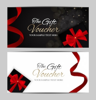 Luxury members, gift card template for your business