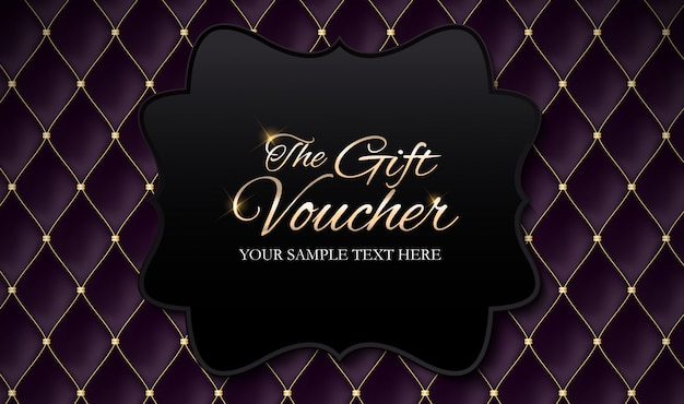 Luxury members, gift voucher template