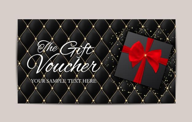Luxury members, gift voucher template