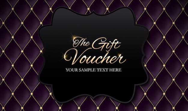 Luxury members, шаблон подарочного купона