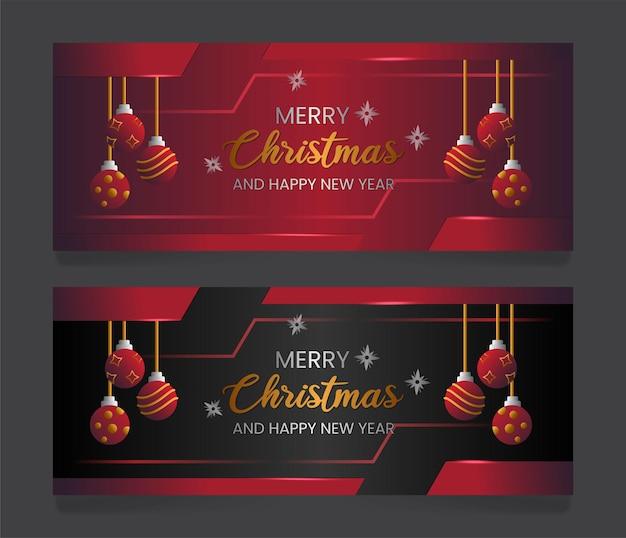 럭셔리 메리 크리스마스 판매 배너 배경 premium 벡터