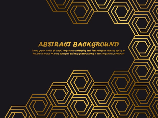 Luxury minimal background template with golden abstract shapes