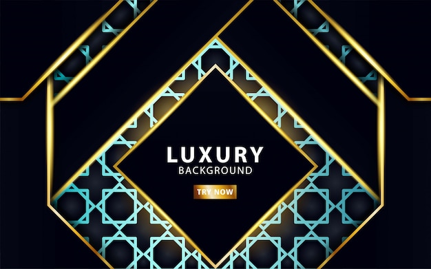 Luxury modern abstract background with gold line and golden rays
