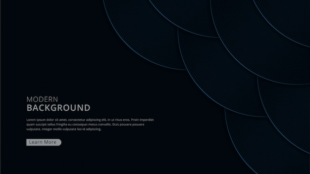 Luxury modern background with curve shape dark navy color theme premium vector