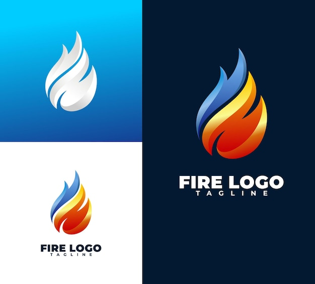 Luxury and modern fire   logo