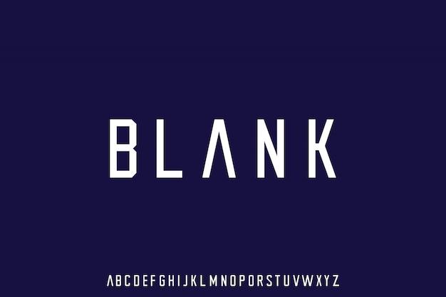 고급 현대 글꼴 알파벳 벡터 세트