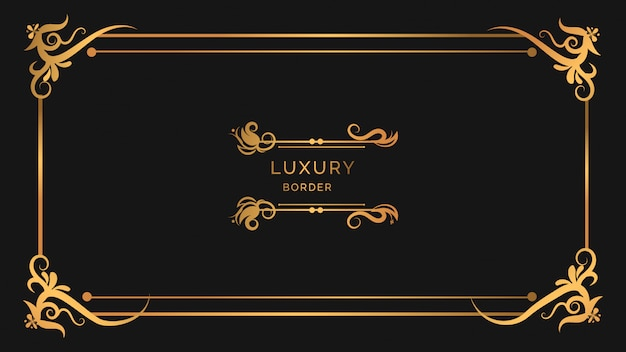 Luxury modern ornaments frame design with floral