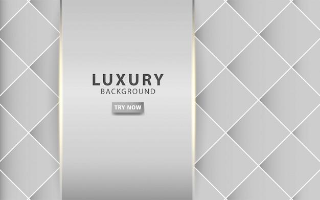 골든 라인 럭셔리 현대 실버 회색 추상적 인 배경 질감 된 회색 사각형 배경에 현실적인 조명 효과. 디지털 템플릿.