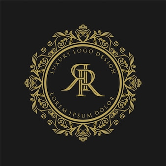 Luxury monogram gold logo design