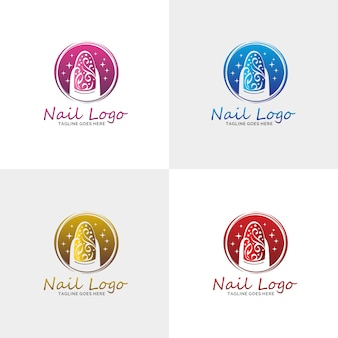 Luxury nail salon logo
