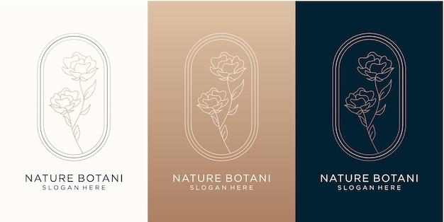 あなたのブランドのための豪華な自然と花のロゴデザイン