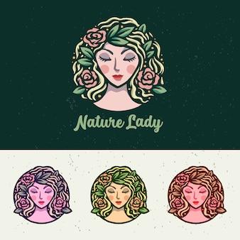 Luxury nature lady иллюстрация логотип