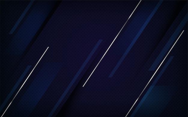 豪華なネイビーとシルバーのラインの組み合わせの背景デザイン。