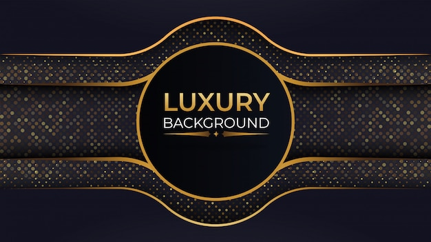 Luxury navy blue abstract background with overlap layer
