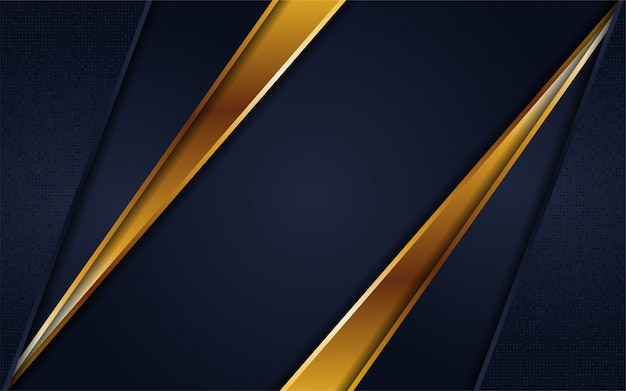 Luxury navy blue background with line gold
