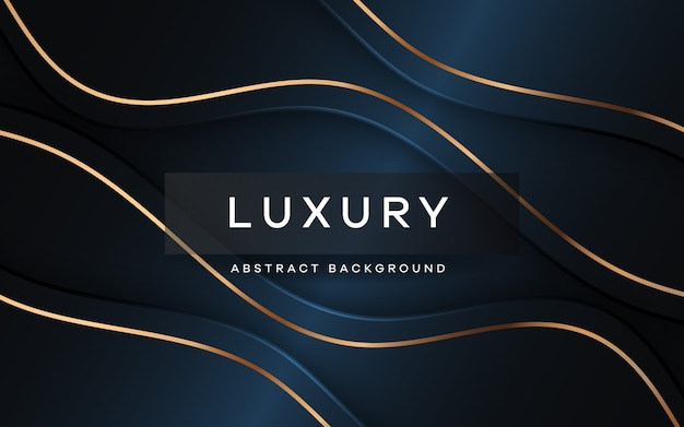 Luxury navy blue background with overlap layer