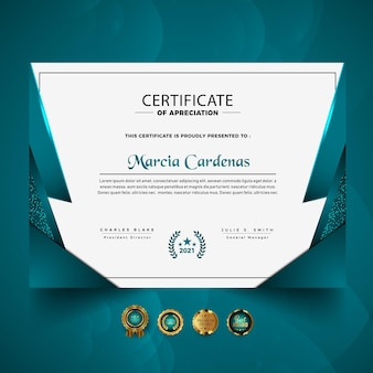 Luxury new professional certificate template