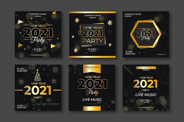 豪華な新年2021年のinstagramの投稿