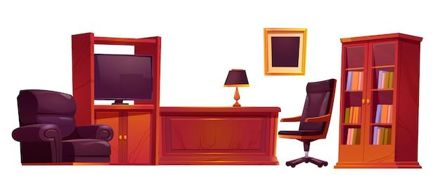 古いアンティークスタイルの高級オフィス