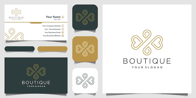 Luxury ornament   and business card