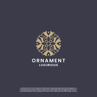 Luxury ornament flower logo design. beauty mandala logo design for branding and company labels