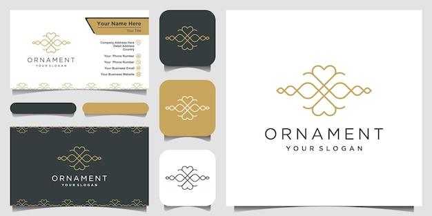 고급 장식 로고 디자인 및 명함 디자인