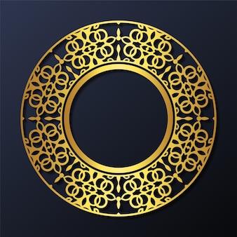 럭셔리 장식 패턴 원형 디자인