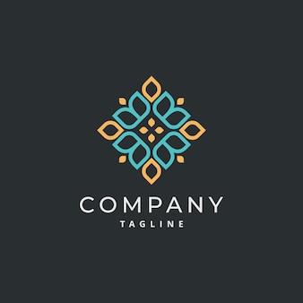 Luxury ornament simple mandala logo design