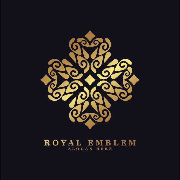 Роскошный орнамент в стиле линии арт логотип