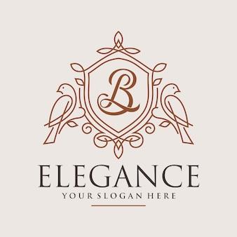 Роскошный дизайн логотипа птицы-орнамента